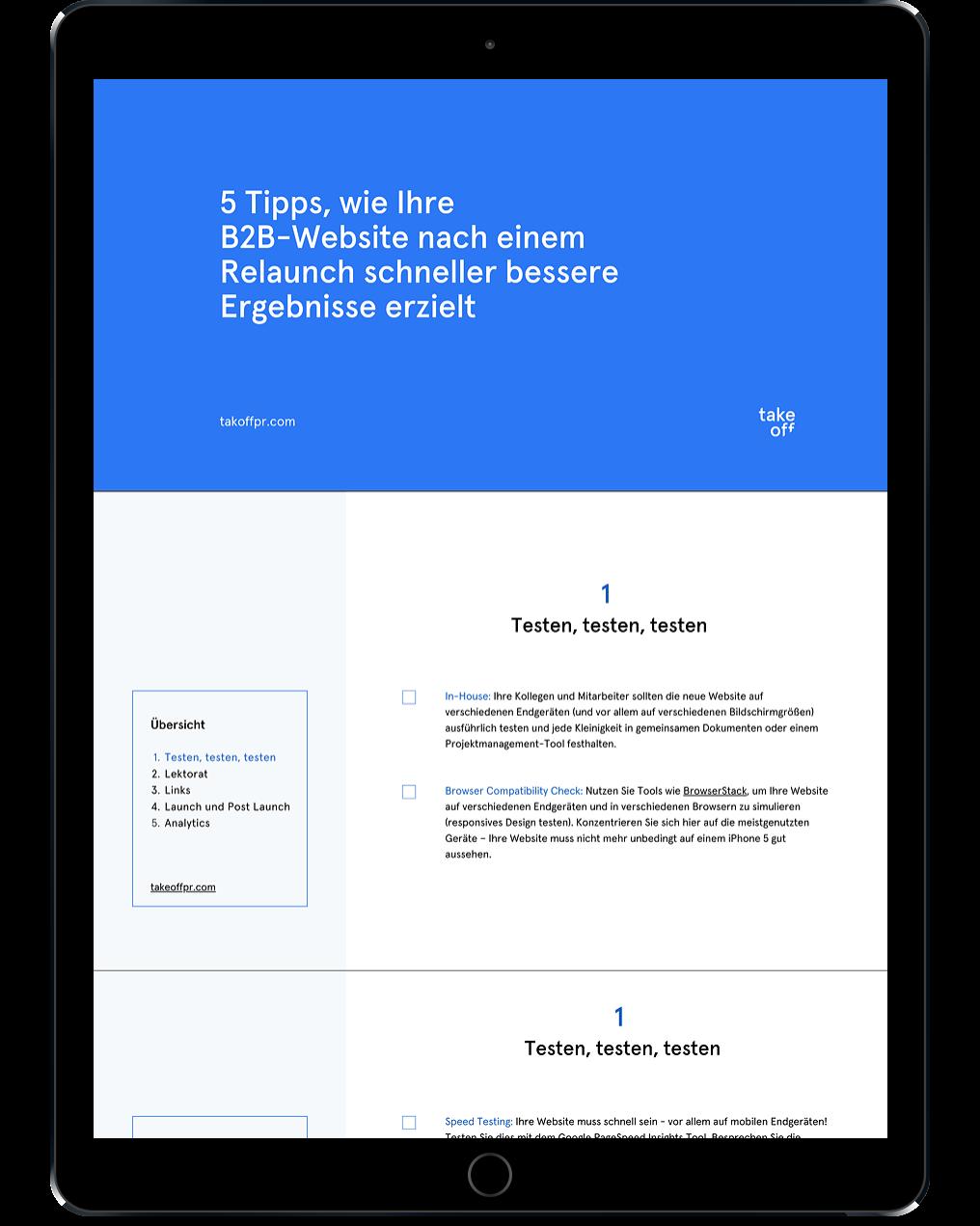Checkliste B2B Website Relaunch