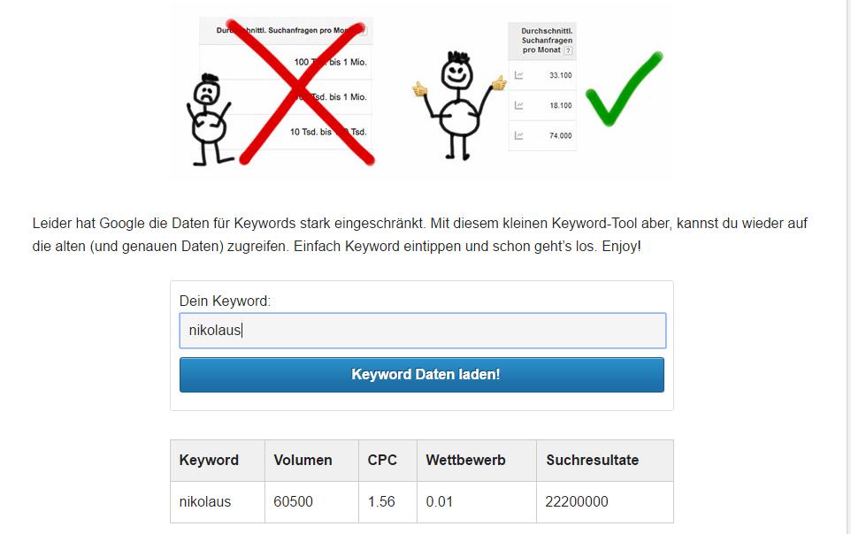 KARMA Keyword Tool
