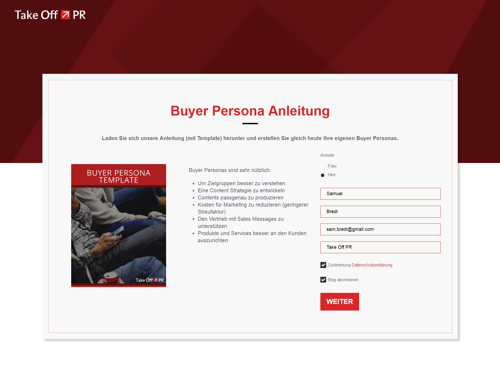 landing page buyer personas-1